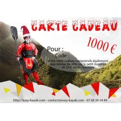 Carte cadeau 1000 € avec remise de 20%