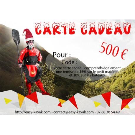 Carte cadeau 500 € avec remise de 15%