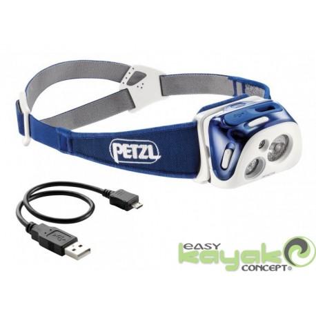 petzl reactik 220 lumens bleu